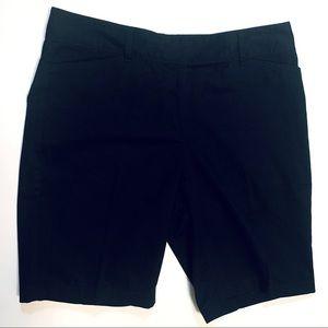 Express Editor Flat Front Black Chino Shorts SZ 10